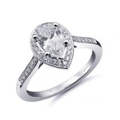 56be2cf82 Coast Romance Collection Engagement Ring. Available at Silverscape Designs~  Diamond Bands, Halo Diamond