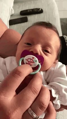 Quickly gave my pacifier
