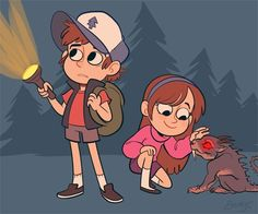 DIPPER: Mabel… did you hear that? I think I heard something… MABEL: Dipper, look at this cute little puppy I found! :3