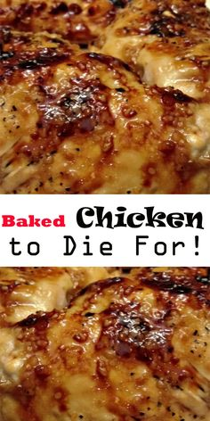 Baked Chicken to Die For! Baked Chicken to Die For! Baked Chicken with Garlic and Brown Sugar Ingredients: 4 Tbs brown sugar 3 tsp olive oil. Baked Chicken Recipes, Meat Recipes, Baked Chicken Breastrecipes, Cheesy Chicken, Healthy Chicken, Recipies, Food Menu, Clean Eating Snacks, Food Dishes