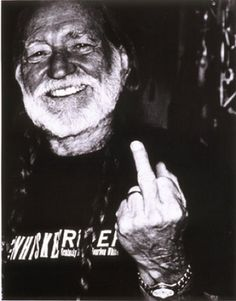 Middle finger of the day: four musical fingers - Kurt Cobain, Willie Nelson, Tommy Lee, Madonna Willie Nelson, Outlaw Country, First Finger, I Love Music, Internet Radio, Johnny Cash, The Middle, Flipping, Music Artists