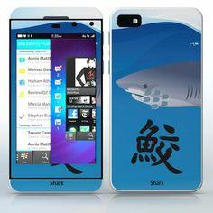 Japanese Symbol - Shark Shark fin and symbol phone skin sticker for Cell Phones / Blackberry Z10   $7.95