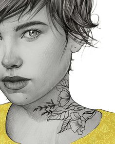 Buenas noches  #illustration #ilustracion #love #tattoo #flowers #elenapanc by elenapanc