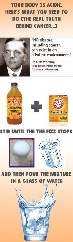 Ingredients:1/3 tsp of baking soda2 tbsp of lemon juice or apple cider vinegarInstructions:Mix the both ingredients until the combination begins to fizz. Until the fizzing stops, keep adding baking soda. The next thing you should do is to pour the resulting mixture into a cup of water.