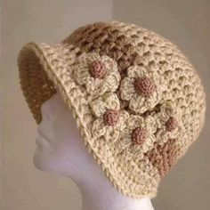 Crochet - cooler flapper styled hat