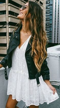 """With see through sleeves and a flowy finish, the """"Full Of Dreams Dress"""" is the perfect outfit for mixing different outerwear with."""