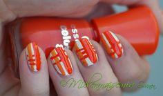 Mielenmaisemia - Oranssit kynnet #nails #nailart