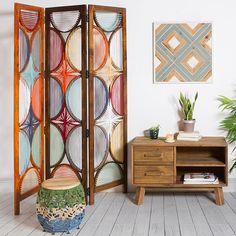 Folding screen (151 x 3 x 183 cm) Mango wood