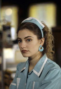 Still of Mädchen Amick as Shelly Johnson in Twin Peaks (1990) via imdb.com