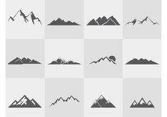 Mountain-silhouettes-vector-set