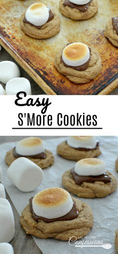 Easy S'more Cookies is the best recipe cookie ever! These cookies are super soft and chewy. The ooey gooey marshmallows and melted chocolate will hook you after just one bite.