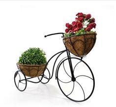 bicicleta p/ plantas e vasos decorada suporte p jardim