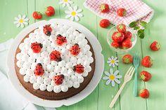 tarta de fresas para niños
