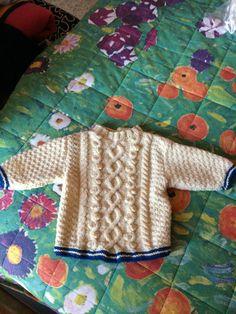 Baby pull aran di Tricottando su Etsy