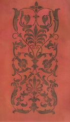 The Ornamental Rose Corner Furniture Stencils coordinates with our Ornamental Rose Center Furniture Stencil for stenciling a traditional flower design on painted furniture, dressers, tables, and cabin