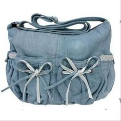 Vintage bow messenger bag denim cotton messenger bag for primary school students girls school bag cross body-in Handbags from Luggage & Bags on Aliexpress.com Messenger Bags For School, School Bags For Girls, Denim Cotton, Denim Bag, Primary School, Luggage Bags, Cross Body, Diaper Bag, Students