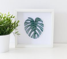 Framed Green Monstera Leaf Wall Art Quilling Green Leaves Wall Decor Unique 3d Paper Art Jungle Home Decor Boho Wall Hangings Plant Lovers 3d Paper Art, Paper Artwork, Boho Wall Hanging, Hanging Plants, Leaf Wall Art, Framed Wall Art, Baby Room Art, Quilling Techniques, Home Decor Wall Art