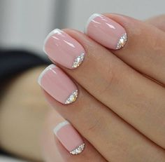 French Nail Art designs are minimal yet stylish Nail designs for short as well as long Nails. Here are the best french manicure ideas, which are gorgeous. French Nail Art, French Tip Nails, Pink French Manicure, French Pedicure, Pink Manicure, Mani Pedi, Black French Nails, French Polish, French Manicure Designs