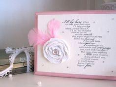 Shabby Chic Baby Girl Room Decor Poem - Sign. $31.00, via Etsy.