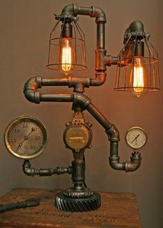 Lámpara #EstiloIndustrial. Totally Cool, Steampunk Light Fixtures @MueblesNomad  MEXICO