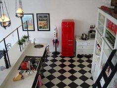 Lifestyle and interior design community sharing design lessons, DIY how-tos, shopping guides and expert advice for creating a happy, beautiful home. Red Kitchen, Kitchen Colors, Kitchen Decor, Diy Wall Decor For Bedroom, Home Decor, Bedroom Ideas, Room Deco, Interior Decorating, Interior Design