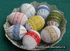 Схемы обвязки крючком пасхальных яиц - Handmade-Paradise
