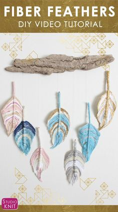 FIBER FEATHER DREAMCATCHER - A Fun Boho DIY Everyone Can Make! Learn how to craft this easy project with Studio Knit.