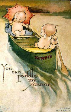 Vintage Postcard ~ Kewpie, via Flickr.
