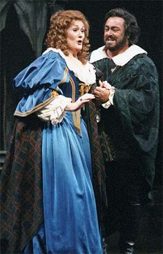 Dame Joan Sutherland singing with Luciano Pavarotti, who once called her the voice of the century.