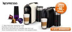"""60€ Nespresso """"Cashback"""" Aktion – Nespresso inkl Aufschäumer ab effektiv 51€ (sehr gutes Angebot) *UPDATE* - myDealZ.de"""