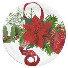 Winter Christmas paper plates - Xmas ChristmasEve Christmas Eve Christmas merry xmas family kids gifts holidays Santa