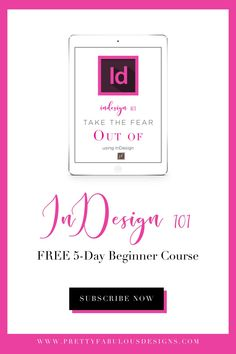 Free 5 days beginners course to learning how to design with Adobe InDesign. Planner Template, Printable Planner, Printables, Academic Planner, Starting Your Own Business, Adobe Indesign, Deck Of Cards, Planners, Wedding Planner