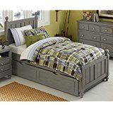 NE Kids Lake House Kennedy Twin Panel Bed with Trundle in Stone deals week