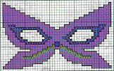 maschera di carnevale - punto croce - cross Stitch - Kreuzstich - Punto de Cruz