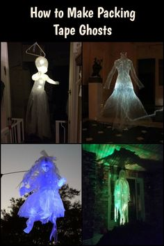 Buy Flowers Online Same Day Delivery These packing tape ghosts are so scary they'll scare even the bravest man away! Halloween Prop, Creepy Halloween Decorations, Outdoor Halloween, Halloween Ghosts, Halloween Party Decor, Holidays Halloween, Halloween Crafts, Halloween Emoji, Toddler Halloween