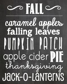 This darling FREE fall chalkboard printable is the perfect addition to your fall decor! Fall Chalkboard Art, Chalkboard Writing, Chalkboard Fonts, Chalkboard Designs, Chalkboard Ideas, Chalkboard Thanksgiving Quotes, Chalkboard Background, Happy Fall Y'all, Love Is Sweet