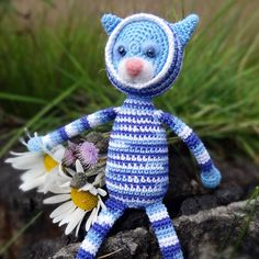 Knitted Cat — Вязаный Котейка (15sm)