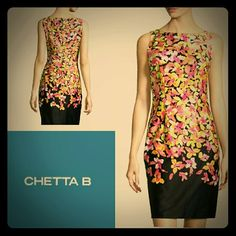 "Chetta B. Floral Dress Beautiful fully lined floral dress that will brighten up any wardrobe! Armpit to armpit approx. 19""/Length approx. 38"". Feel free to ask any additional questions before purchasing. Chetta B. Dresses"