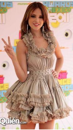 All Saints Ruffle Dress- Eiza Gonzalez