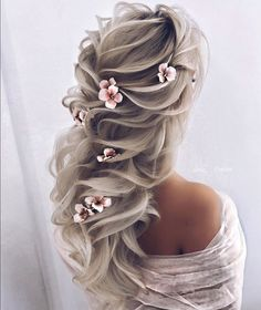 30 Elegant Wedding Hairstyles For Gentle Brides - best hairstyles - Hochzeitsfrisuren-braided wedding updo-Wedding Hairstyles Elegant Wedding Hair, Stunning Wedding Dresses, Hair Wedding, Prom Hair Updo Elegant, Perfect Wedding, Wedding Hairstyles, Cool Hairstyles, Fashion Hairstyles, Quinceanera Hairstyles