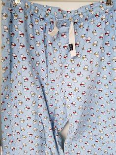 Old Navy Pj Pajama Bottoms SZ large Lounge Blue Snowmen Print 100 Cotton Pajama Bottoms, Pajama Pants, Womens Pjs, Lounge Pants, Snowman, Old Navy, Men Casual, Shirt Dress, Mens Tops