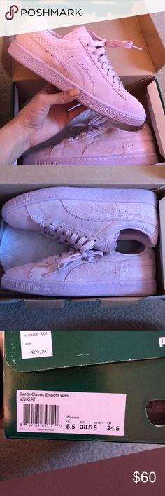 Puma suede classic Color- Lilac Snow. Great condition, almost new 😍💞🔥 size 8 women's Puma Shoes Athletic Shoes