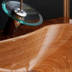 Anyone who's ever dealt with wood rot will tell you wood has no place in the bathroom, especially not as a vessel for water; but Swiss manufacturer Ammonitum gets around the wood vs. water problem with special manufacturing techniques.Ammonitum's wooden sinks, bathtubs and toilet seats, after being glued up and...