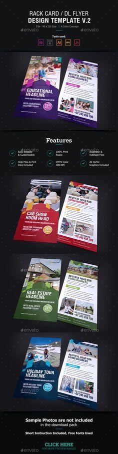 Rack Card DL Flyer Design v2 - Corporate Flyers