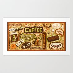 Caffeine Junkie Art Print by Steve Simpson - $18.72