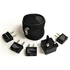 Ceptics UP-5KP International Worldwide Travel Adapter Plug, 5-Piece Set with Pouch