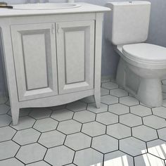 Merola Tile Hexatile Matte Blanco 7 in. x 8 in. Porcelain Floor and Wall Tile (2.2 sq. ft. / pack)-FEQ8HMB - The Home Depot