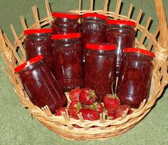 Dulceata de capsuni - Bunătăți din bucătăria Gicuței Preserves, Pickles, Salsa, Strawberry, Cooking Recipes, Jar, Drinks, Recipes, Syrup