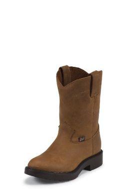 Justin Original Work Children's Work Man-Made Boot Justin Boots. $79.99