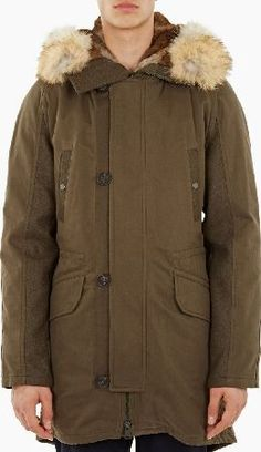 Yves Salomon Khaki Rabbit-Fur Lined Parka The Yves Salomon Rabbit-Fur Lined Parka, seen here in khaki. - - - Yves Salomon combine traditional, high-quality craftsmanship with contemporary technology to craft classic styles with a distinctly m http://www.comparestoreprices.co.uk/january-2017-6/yves-salomon-khaki-rabbit-fur-lined-parka.asp